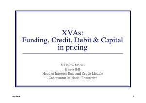 XVAs: Funding, Credit, Debit & Capital in pricing