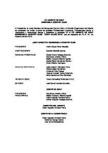 XVI ABIERTO DE GOLF SEREZUELA COUNTRY CLUB