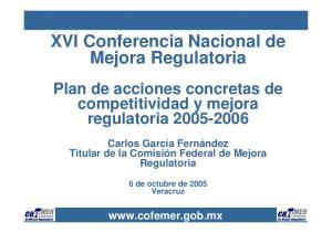 XVI Conferencia Nacional de Mejora Regulatoria