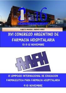 XVI CONGRESO ARGENTINO DE FARMACIA HOSPITALARIA