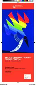 XVII INTERNATIONAL CHOPIN & FRIENDS FESTIVAL October 27 - November 22, 2015