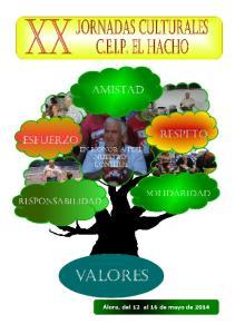 XX Jornadas Culturales C.E.I.P. El Hacho Valores