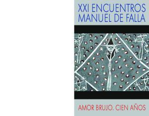 XXI ENCUENTROS MANUEL DE FALLA