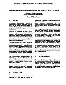 XXII JORNADAS EN INGENIERÍA ELÉCTRICA Y ELECTRÓNICA