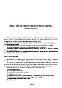 XXIII.- ELEMENTOS AUXILIARES DE CALDERA