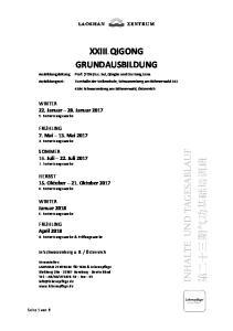 XXIII. QIGONG GRUNDAUSBILDUNG