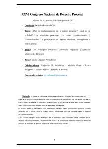 XXVI Congreso Nacional de Derecho Procesal