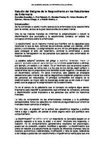 XXVI CONGRESO NACIONAL DE ENFERMERIA DE SALUD MENTAL