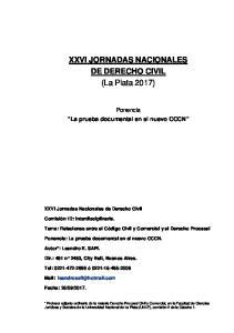 XXVI JORNADAS NACIONALES DE DERECHO CIVIL (La Plata 2017)