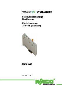 xxx-xxx) Handbuch