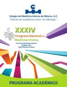XXXIV Congreso Nacional de Medicina Interna