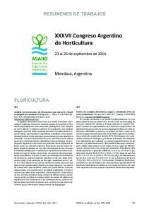 XXXVII Congreso Argentino de Horticultura