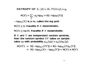 (xy) = p X. (Y )] = E[ log p. (XY )] = E[ log p. X(X) log p