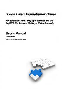 Xylon Linux Framebuffer Driver