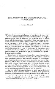 y PRIVADO UNA CUESTION DE INTERES PUBLICO