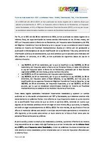 YA SE HA PUBLICADO EN EL BOE LA REFORMA FISCAL: RENTA, SOCIEDADES, IVA, Y NO RESIDENTES