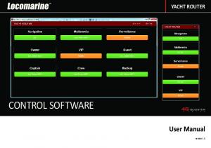 YACHT ROUTER CONTROL SOFTWARE. User Manual. version 1.3