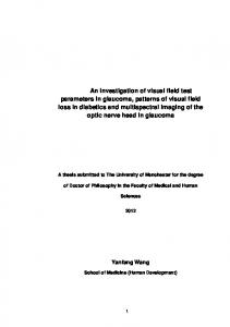 Yanfang Wang. A thesis submitted to The University of Manchester for the degree. of Doctor of Philosophy in the Faculty of Medical and Human