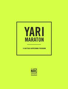 YARI MARATON 14 HAFTALIK ANTRENMAN PROGRAMI