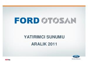 YATIRIMCI SUNUMU ARALIK 2011