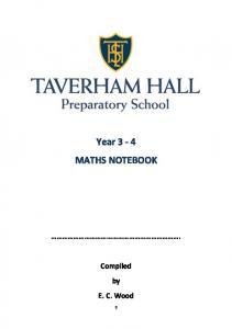 Year 3-4 MATHS NOTEBOOK