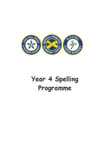 Year 4 Spelling Programme