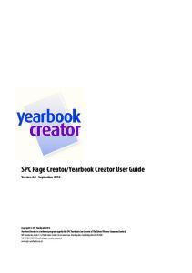 Yearbook Creator User Guide. Version September 2014