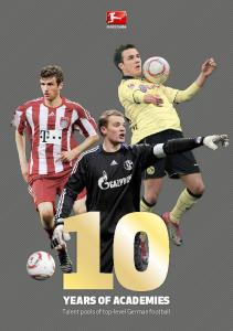 Years of academies. Talent pools of top-level German football