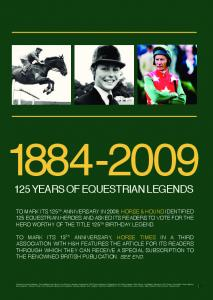 years of equestrian legends