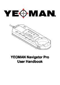 YEOMAN Navigator Pro User Handbook
