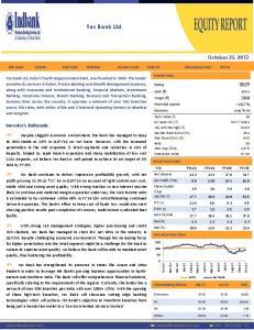 Yes Bank Ltd. BUY. October 25, Investor s Rationale