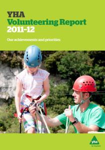 YHA Volunteering Report Our achievements and priorities