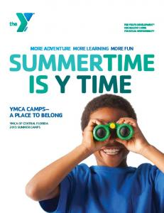 YMCA CAMPS A PLACE TO BELONG