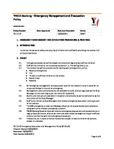 YMCA Geelong Emergency Management and Evacuation Policy