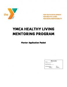 YMCA HEALTHY LIVING MENTORING PROGRAM