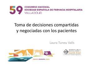 ynegociadas con los pacientes Laura Tuneu Valls