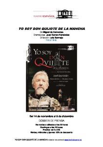 YO SOY DON QUIJOTE DE LA MANCHA