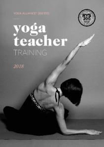 YOGA ALLIANCE 200 STD. yoga teacher TRAINING