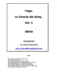 Yoga: La Ciencia del Alma, Vol. 4 OSHO