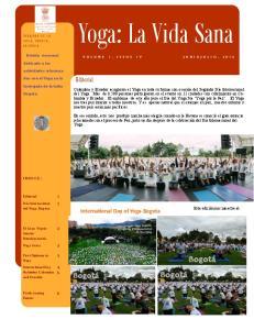 Yoga: La Vida Sana. Editorial. International Day of Yoga-Bogota