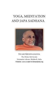 YOGA, MEDITATION AND JAPA SADHANA
