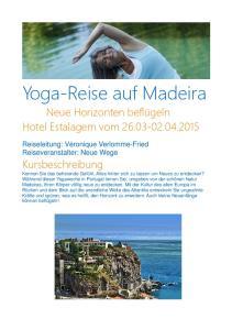 Yoga-Reise auf Madeira