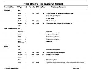 York County Fire Resource Manual