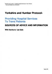 Yorkshire and Humber Protocol-