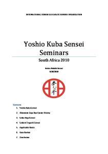Yoshio Kuba Sensei Seminars