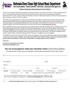 You are encouraged to make your donation online (instructions follow)