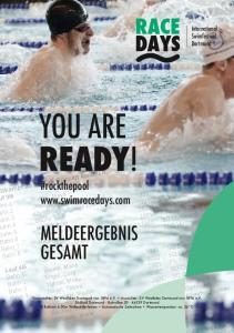 YOU ARE READY! #rockthepool  MELDEERGEbNIS GESAMt