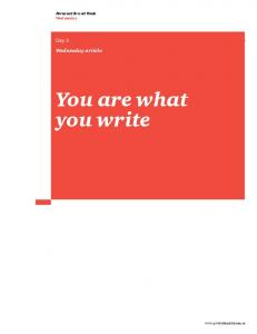 You are what you write