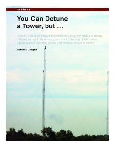 You Can Detune a Tower, but