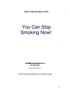 You Can Stop Smoking Now!